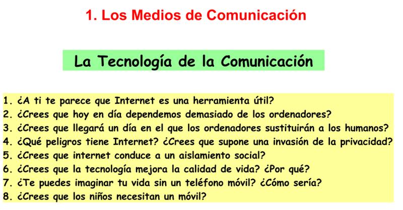 3. Communication Technology
